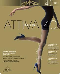 COLLANT-RIPOSANTE-OMSA-ATTIVA-40-DEN-10-PAIA-COMPRESSIONE-GRADUATA-TASSELLO