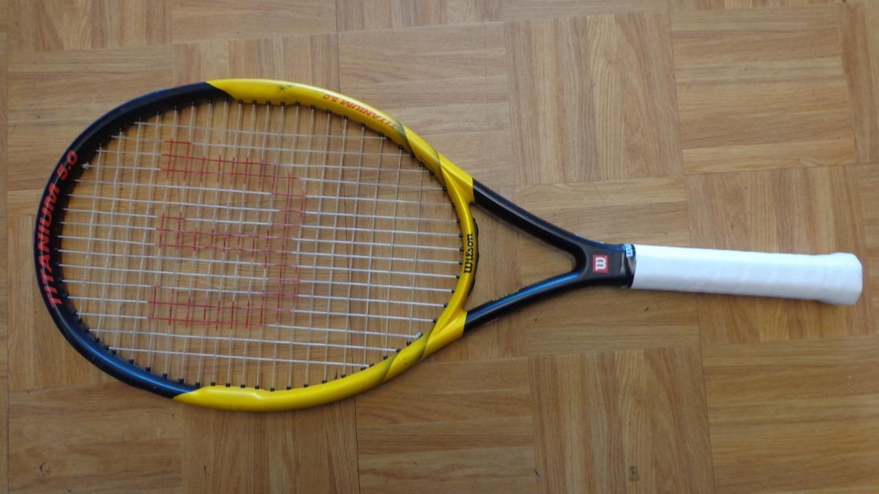 Wilson Hammer 5.0 Titane OS 110 4 1 2 grip raquette de tennis