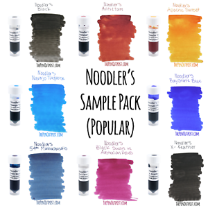 Noodler-039-s-8-Ink-3ml-Sample-Pack-including-eight-of-the-most-popular-colors