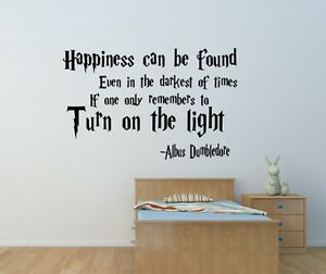 Harry Potter happiness can be found wall art sticker Home bedroom ...