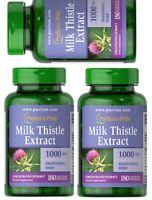 Puritan's Pride U.s Made Milk Thistle-silymarin 1,000mg Softgels 3x180 Best
