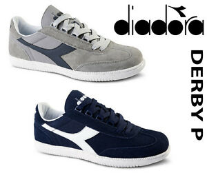 NEW Diadora DERBY P 161298-C4743,C2074 Sneakers LOW TOP SHOES GRAY OR NAVY