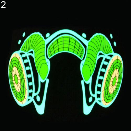 Lk /_ Eg /_ Led Lumineux Clignotantes Masque Visage de Fête Illuminé Danse Cospl