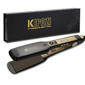 KIPOZI-Pro-Hair-Straighteners-1-75-Inch-Salon-Titanium-Iron-Digital-LCD-Display