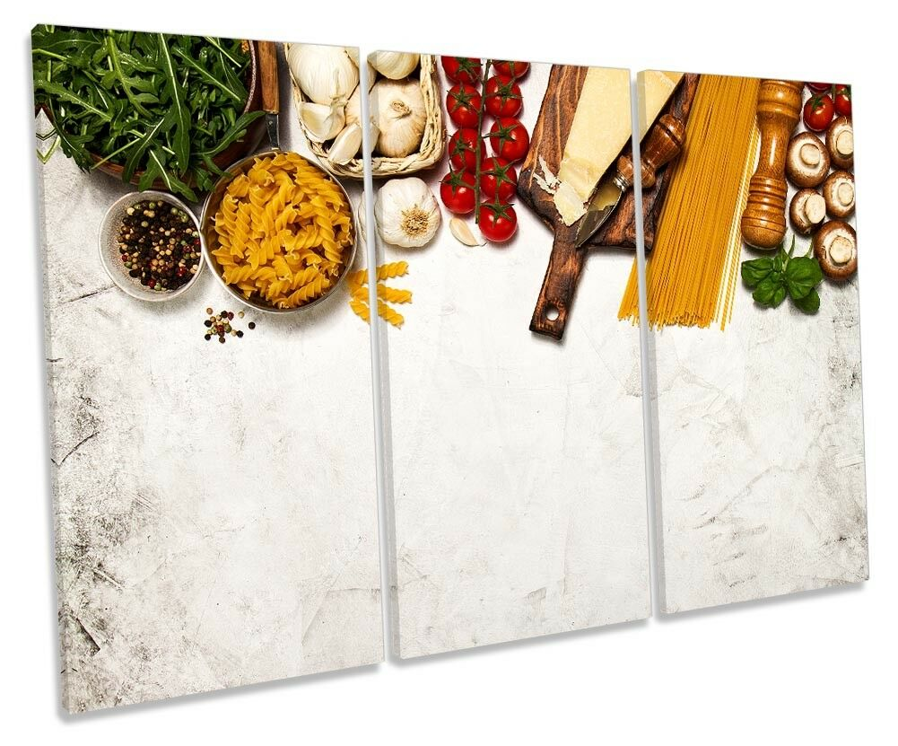Cooking Fresh Ingrotients Framed TREBLE CANVAS PRINT Wall Art
