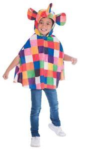 Boys-Girls-Official-Elmer-The-Patchwork-Elephant-Cape-Fancy-Dress-Costume-2-6yr
