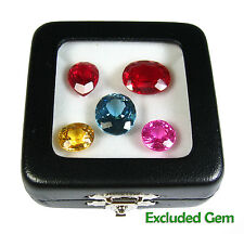 TOP GLASS DISPLAY BOX SHOW JEWELRY GEM DIAMOND COIN 5.8x5.8 CM QUALITY FREE SHIP