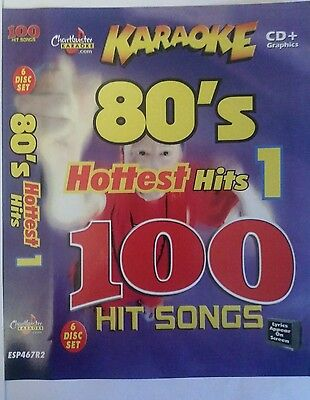 Chartbuster Karaoke Cdg 80s Hottest Hits 6 Disc Set 100 Songs Musical Instruments & Gear