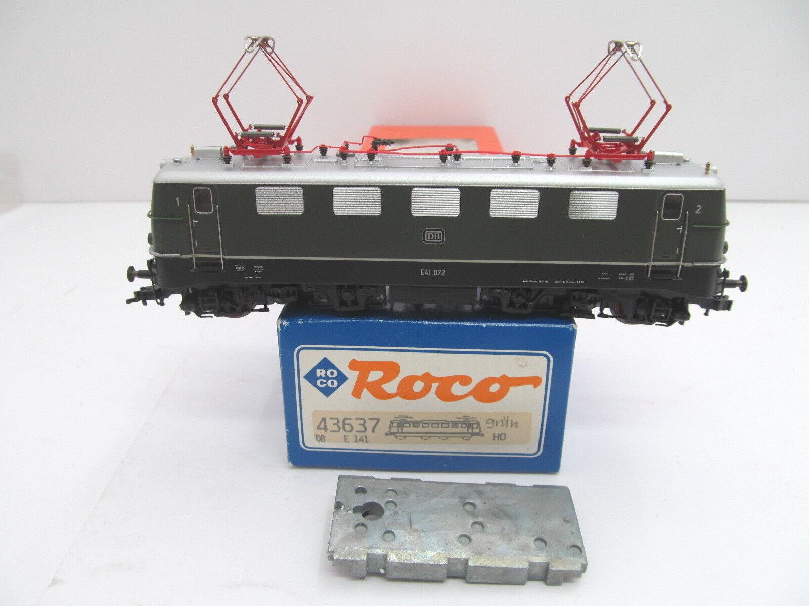 Mes-44203 43637 roco h0 e-Lok DB e41 072 muy buen estado, función, han comprobado