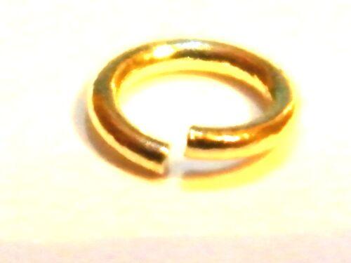 """Oro Amarillo 18ct 4.0mm Jump Ring pesado /""""abierto/"""" Cable calibre 21 de fabricación de joyas"""