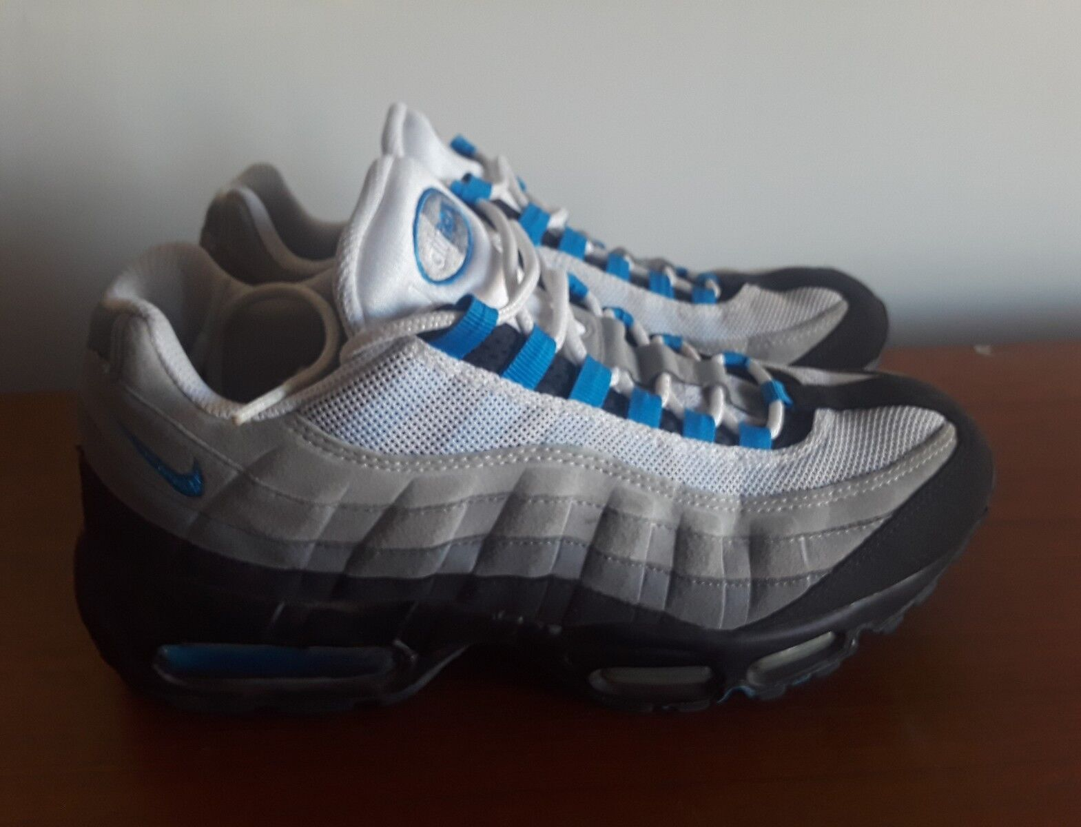 Men 2018 Nike Air Max 95 Blue Gray Black Comfortable Comfortable and good-looking