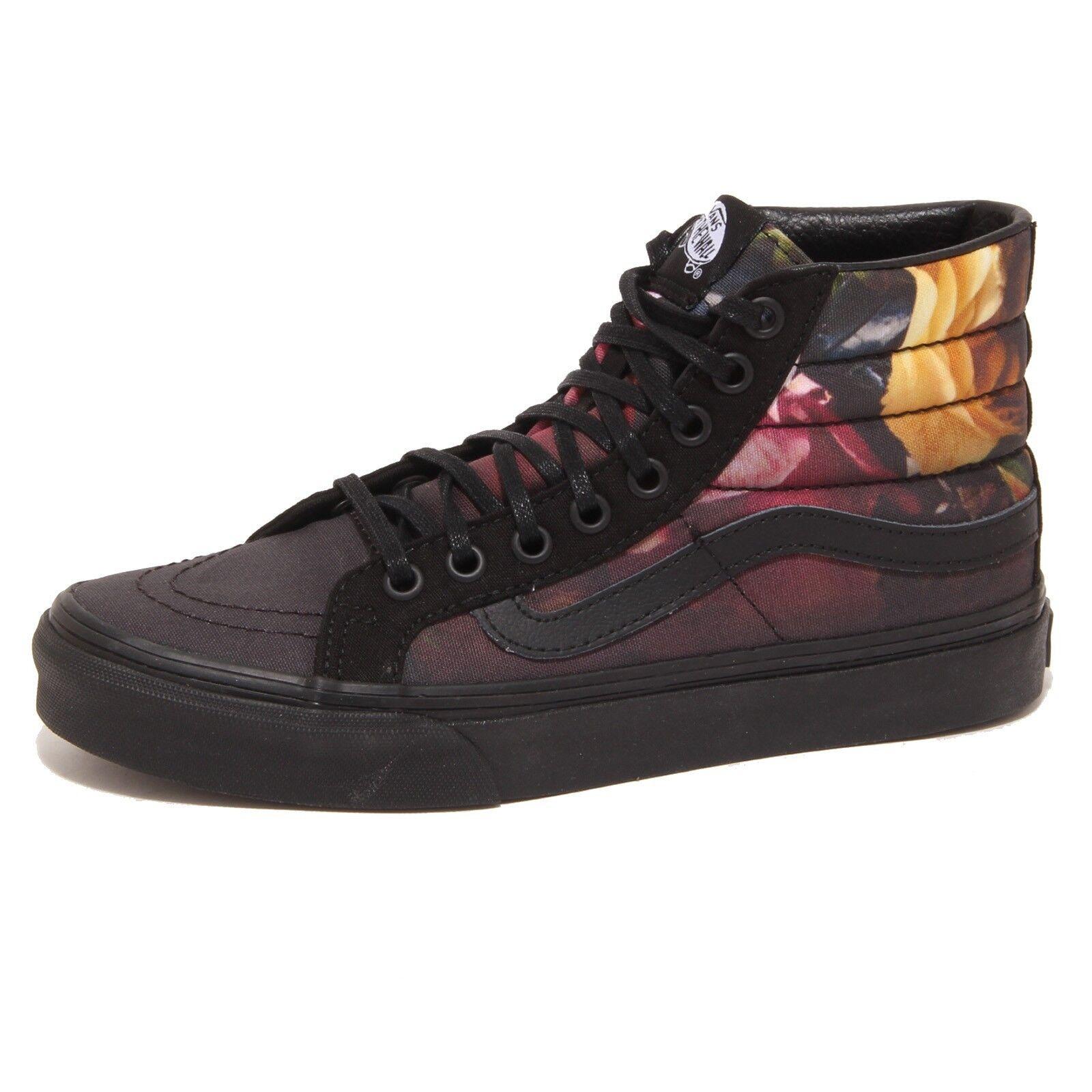 7952P sneaker donna VANS SK8-HI SLIM nero/floral shoe Donna