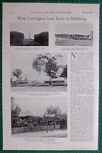 1900 Boer War Era Chimoio Station Bambus Creek Salisbury ~ Road To Mafikeng