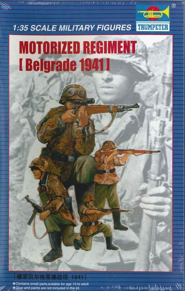 TRUMPETER® 00403 WWII German Motorized Regiment Belgrade 1941 Figuren in 1:35