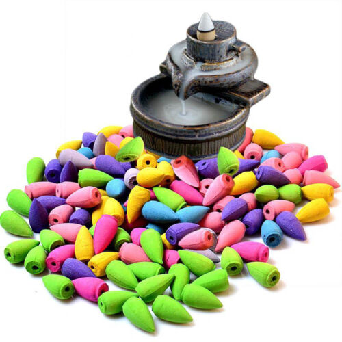 New Mix 70Pcs//Lot Natural Incense Cone Reflux Tower Incense Bullet Shaped