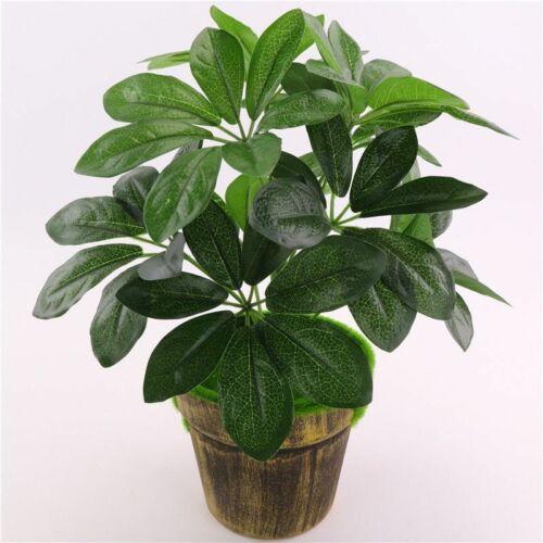 Artificial Schefflera Octophylla Leaves Indoor House Plant Office Home Decors