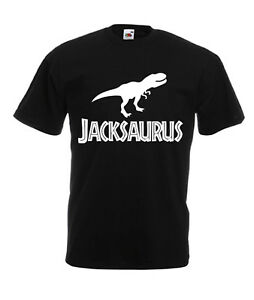 PERSONALISED Dinosaur Kids Name T Shirt Top Clothes Kids Boys Girls children