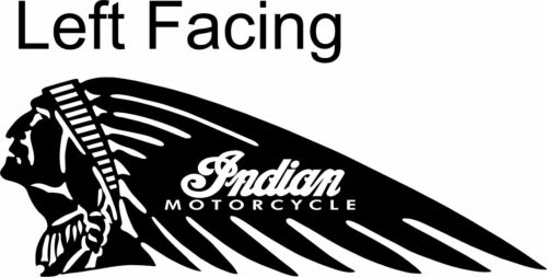 Indian Motorcycle Head Chief Scout Decal Diecut Sticker Self Adhesive Vinyl