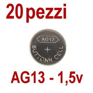 20-PILE-AG13-LR-44-357A-1-55V-BATTERIA-BOTTONE-PILA-BATTERIE-PIATTA-non-10