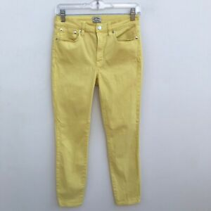 J-Crew-Lookout-High-Rise-Skinny-Yellow-Crop-Jeans-Size-27