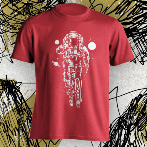 Hipster Shirt Astronaut Bike Bicyclist T Tee Space New funny graphic s m l xl