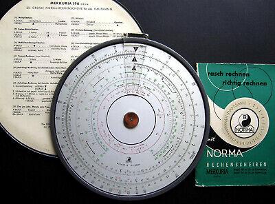 """Aufstrebend """"rechnen Ohne Strom"""" Rechenscheibe Norma 190 D.b.g.m. Merkuria Für Den K"""