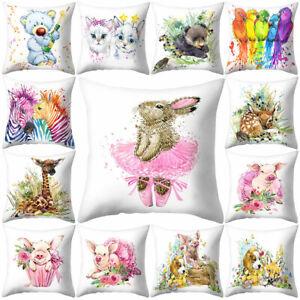 Am-Colorful-Cat-Bear-Rabbit-Pig-Parrot-Animal-Cushion-Cover-Pillow-Case-Sofa-De