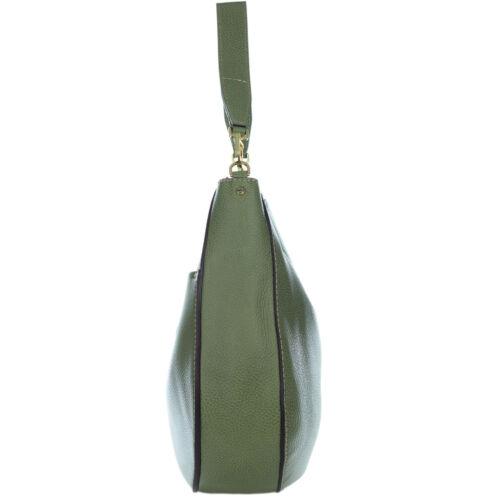 Italiaanse grote tas handgemaakte groene lederen voorzakken Chiarini kiezel Gianni hobo E2DW9HI
