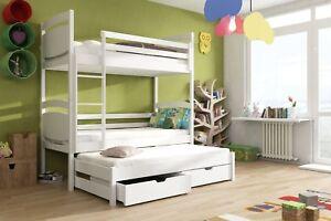 Etagenbett Für 3 Personen : Etagenbett hochbett colo für personen inkl lattenrost matratze