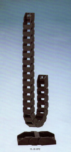 1000MM 15x20 mm Cable Drag Chain Radius 28mm Wire Carrier With End Connectors