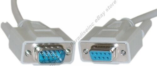 3ft short DB9 pin Male-Female Extension Serial RS232 Straight Through Cable//Cord