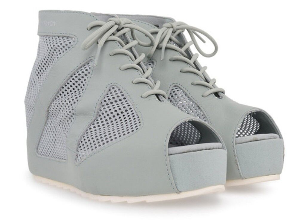 PUMA by Hussein Chalayan HAKODA SUMMER shoes PURITAN GREY Peep Toe 10 1 2  150