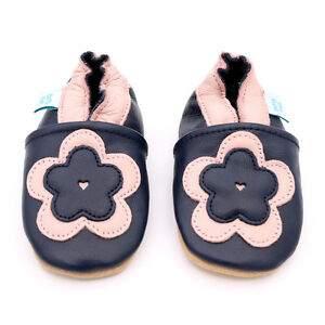 Dotty-Fish-Soft-Leather-Baby-amp-Toddler-Shoes-Flower-0-6-Months-3-4-Years