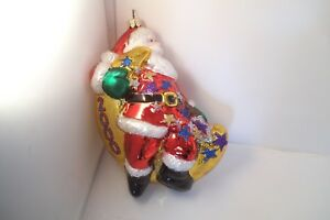 Komozja Santa Claus Glass Christmas Ornament Year 2000 ...