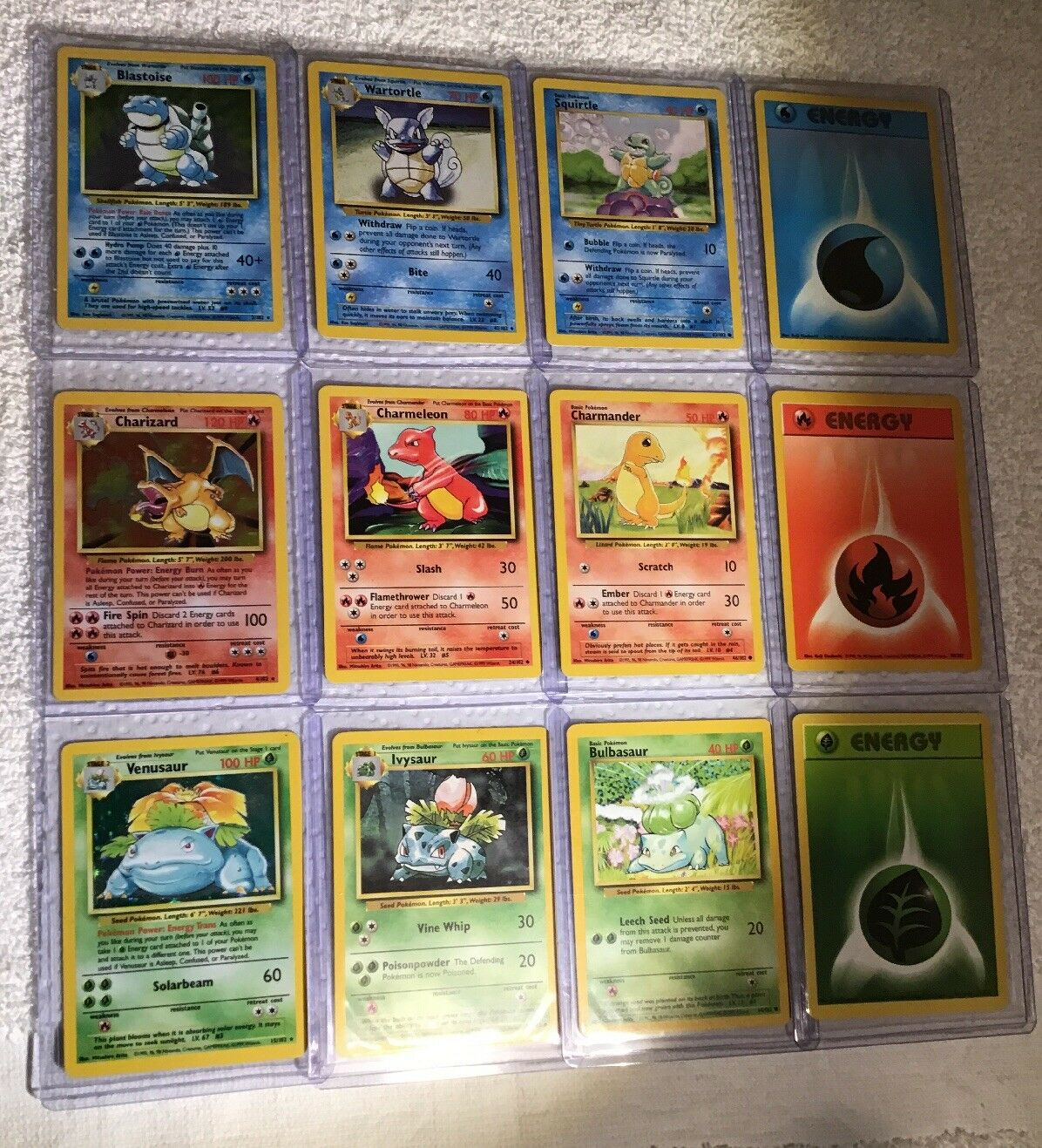 Charizard Blastoise Venusaur Venusaur Venusaur Original Evolution Set Pokemon 12 Card Set SALE 6cc3d9
