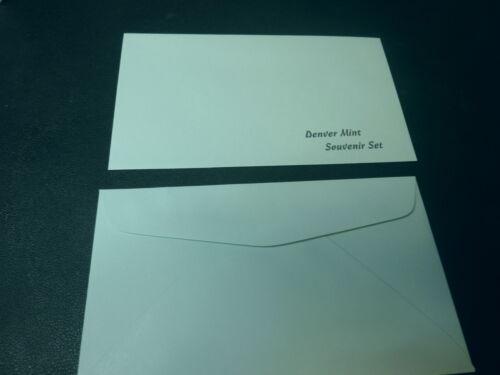 Replacement Realistic facsimile Denver Mint Souvenir Set Envelopes