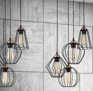 Hänge Lampe Wohnzimmer Leuchte Käfig Hängelampe Retro Schwarz | eBay