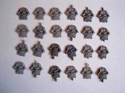 Adattabile #55 Warhammer Fantasy Skull Shield Insignia I Simboli Distintivi Parti Pezzi Ricambi Gw-mostra Il Titolo Originale