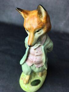 Beatrix-Potter-034-Foxy-Whiskered-Gentleman-034-Figurine-Beswick-Warne-MAKER-STICKER