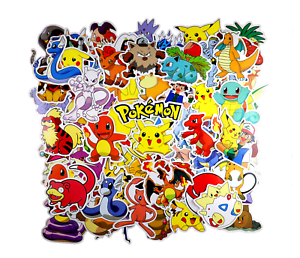 80pc POKEMON GO Pikachu Cartoon Stickers Laptop Sticker Luggage Decal, USA Ship!