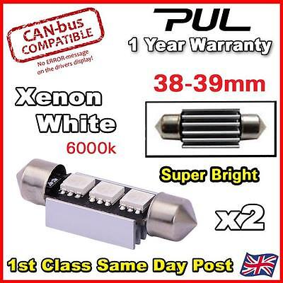 Range Rover Vogue L322 Xenon White LED Number Plate Lights Bulbs - Error Free 39