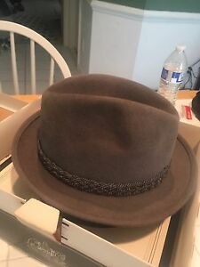 13c48ded9888f Vintage Stetson The Foreign Felt Fedora hat mens size 6 7 8 (55) EUC ...