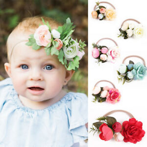Baby Girls Cute Infant Toddler Kids Headband Bow Flower Hair Band ... 79835eb8f33