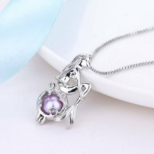 Mermaid 10x Plated Pearl Cage Pendant