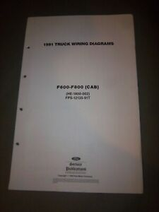 OEM 1991 Ford F600 F700 F800 CAB Electrical Wiring Diagram ...