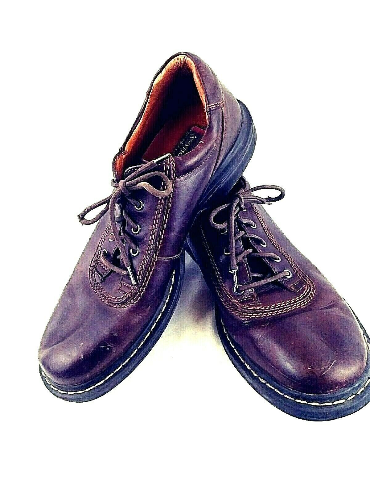 Johnston & Murphy Men's 10.5 M Brown Leather Lace Up Oxford Shoes