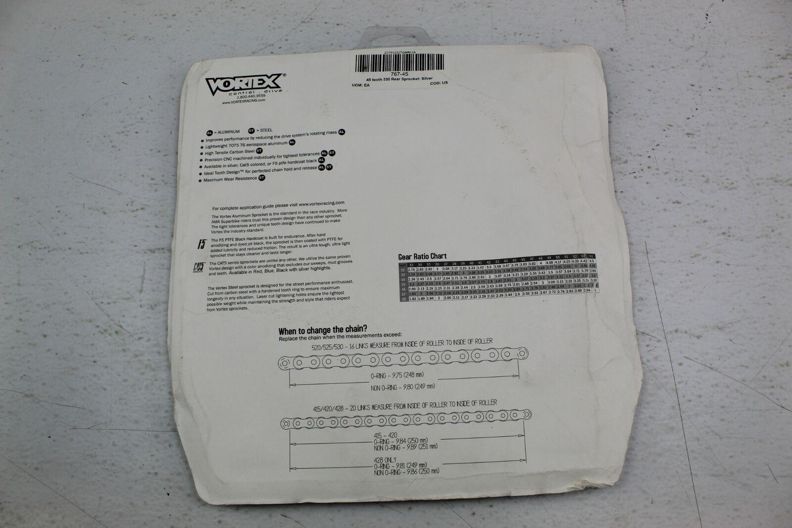 Vortex 767A-50 Silver 50-Tooth Rear Sprocket