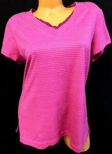 Danskin-now-pink-purple-women-039-s-plus-size-v-neck-short-sleeve-stretch-top-XXL