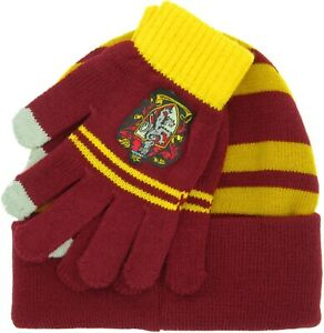 Harry-Potter-Cap-and-Gloves-Gryffindor-100-Official-Warner-Bros-Gryffindor