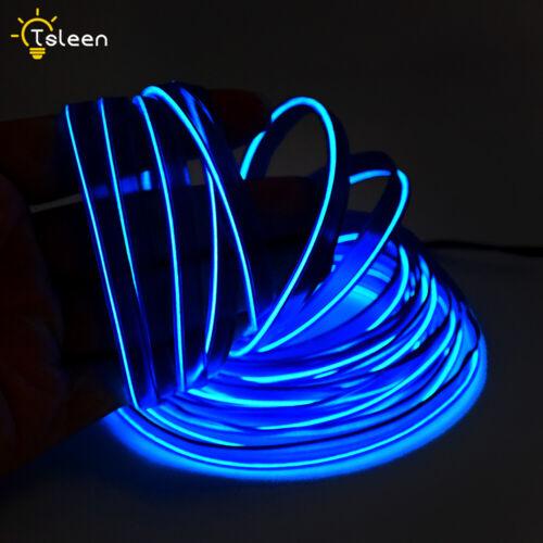 Neon-Kabel EL Wire Draht LED Lichterkette+Wechselrichter für Cosplay Auto Bühne